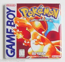 Pokemon Red Version FRIDGE MAGNET (2 x 2 inches) video game box game boy