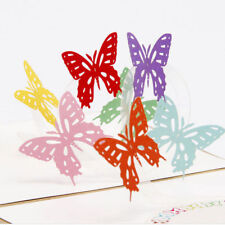Pop Up 3D Card Butterfly Happy Anniversary Birthday Valentine Christmas