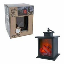 LitezAll Small Cozy Fireplace Lantern NEW