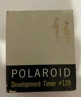 Vintage Polaroid Development Timer #128 With Original Box And Instructions