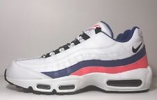 "SZ.12 Nike Air Max 95 Essential 749766-106 ""Ultramarine"" White/Black-SolarRed"