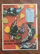 SOUTHEAST MISSOURI @ DELTA STATE COLLEGE FOOTBALL PROGRAM 1972 EX+/NM