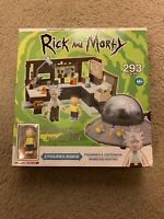 Mcfarlane Rick & Morty Spaceship Garage Construction 293pcs Build Set Toy