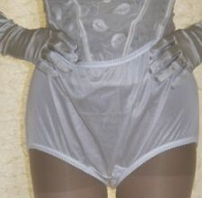 White silky nylon gusset full briefs knickers panties size ex  large
