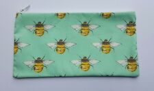 Bumble Bee Fabric Handmade Pencil Case Make Up Bag Storage Pouch