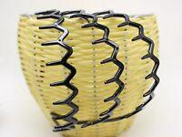 6 Black Plastic Wave Hair Band Comb Headband 28mm with Deep Teeth Hair Accessory