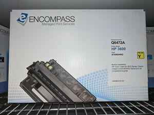 Encompass Q6472A Yellow Compatible for HP LaserJet 3600 3800 CP3505 Toner