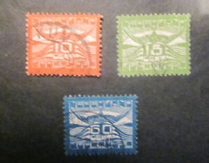 1921 Netherlands complete set Air Mail 1 - 3 used