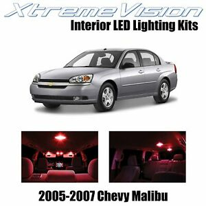 XtremeVision Interior LED for Chevy Malibu 2005-2007 (6 PCS) Red