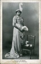 Rare Vintage SOUVENIR OF ABOMAH Postcard Photo - Tallest Woman in the World