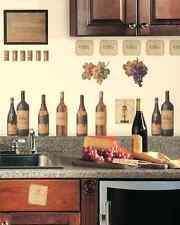 56 Pcs Wine Tasting Kitchen Wall Decorative Reusable Peel And Stick Wall Decals
