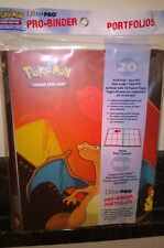 Ultra Pro Pokemon Charizard 9 Pocket Page Portfolio Album Binder Holds 360 cards