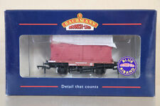BACHMANN 37-951 BR BROWN CONFLAT A WAGON B705549 & CRIMSON CONTAINER LOAD nz