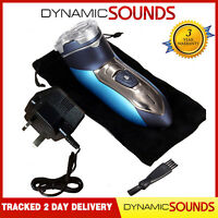 Dynamic Mens Electric Shaver Cordless Rechargeable Washable 3 Heads & Pouch