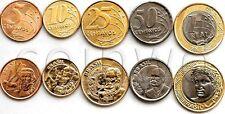 BRAZIL 5 COINS SET 2013-2014 UNC (#1474)