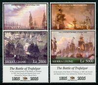 Sierra Leone 2005 MNH Battle of Trafalgar 200th 4v Set Nelson Ships Navy Stamps