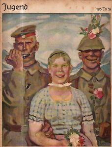 1915 Jugend October 18 Original German Art - Cucuel, Rost, Putz, Streck, Braun