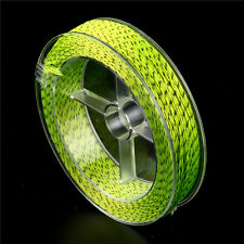 FLY LINE BACKING 100m x 20lb Delta Braided Fly Fishing Line-Chartreuse/Charcoal