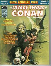 Savage Sword of Conan Annual #1 magazine 1975 Good cond