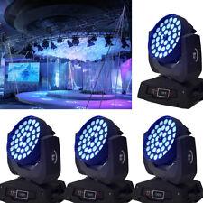 4Pcs 360W Moving Head Beam Light Zoom Stage Wedding Party Show Dmx 16Ch 36X10W