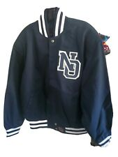 New Orleans twill jacket with leather designs NWT adult size 4XL