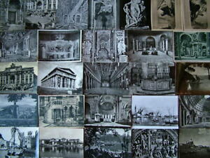 100 BLACK & WHITE Postcards of/from ITALY. Used & Unused.