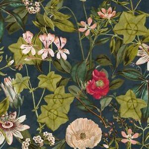 Clarke and Clarke - Passiflora - Midnight and Spice - Fabric 33cmX68cm