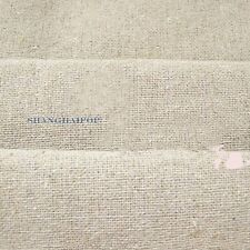 Plain Linen Hemp Fabric Burlap Sewing Craft Background Upholstery By Meter Khaki