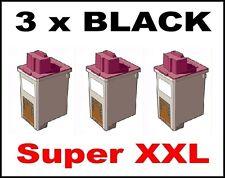 3 x Ink Cartridge for Lexmark Z43 Z44 Z51 Z52 Z53 Z54 / 12A1975 75 BLACK