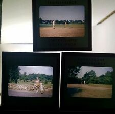 3 Red border kodachrome 35mm slides of Branchbrook golf course Essex NJ