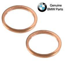 Pair Set of 2 Turbocharger Oil Line Gasket Washers Genuine For E30 E32 E36 E28