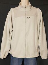 Oakley Gray Full Zip Fleece Jacket Mens size Large L