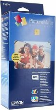 Epson PictureMate Print Pack Inkjet Cartridge w/100 Photo Paper Sheets T5570