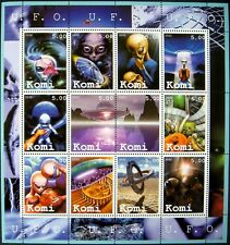 Science Fiction Stamps Aliens Flying Saucer Imitation Stamps Ufo Sci-Fi Space