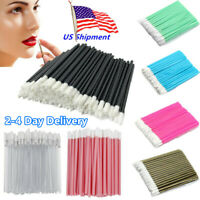 50/100 Disposable Lip Brush Gloss Lipstick Wands Applicator Makeup Brushes Tool