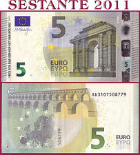 "(com) EUROPEAN UNION - ITALY 5 EURO 2013 Sign DRAGHI  ""SD""  S002C3 - P 20s - UNC"