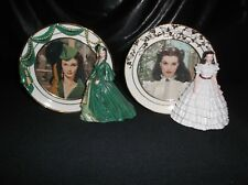 "2 Gone With The Wind Scarlett O'Hara ""Reflections Of Scarlett"" Figurine Plates"