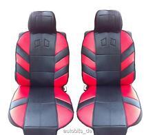 2x Sitzauflage Sitzaufleger Rot Schwarz Autositzauflage Autositz Hochwertig für