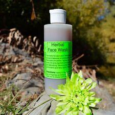 Herbal Face Wash- 4 Oz- Raw, Vegan, Organic, pH Balancing, free of harsh soaps a