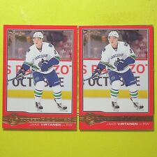 """(Lot of 2)  JAKE VIRTANEN  2015-16 """" ROOKIE OPC GLOSSY RED """"   #R5   Canucks"""
