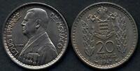 MONACO 20 Francs 1947 Louis II A/UNC