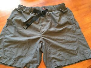 The North Face Swim Shorts Charcoal elastic belted  2 front & 1 back pockets M