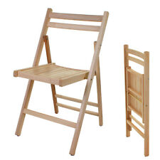 Folding Chairs Wooden Wood Dining Office Student Uni School Patio Indoor Outdoor