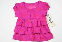 New OshKosh Baby Girl Pink Red Polka dot Ruffle Top NWT Size 18M 2T 3T 4T 5T