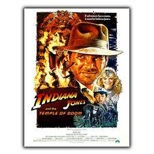 INDIANA Jones E Il Tempio Maledetto Steven Spielberg Metallo Segno Piastra a Parete Poster