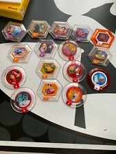 DISNEY INFINITY 20 POWER DISC LOT with A Couple Rare HTF Ones Mayhem Bus Merlin
