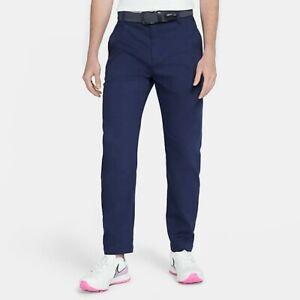 Nike Mens Slim Fit 6 Pocket Navy Blue Golf Pants-New-36/30