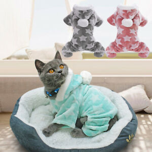 1PC Fleece Small Dog Clothes Hoodie Coat Pet Puppy Cat Jumpsuit Costume Casual