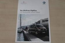 184996) VW Bus T5 Multivan Highline - Romantik Travel Paket - Prospekt 10/2011