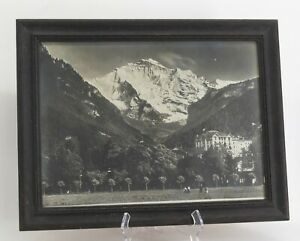 Swiss Alps Early 20th Century Framed Antique Gelatin Silver Photograph